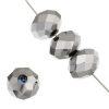 Ori Crystal (Chinese Donut) 6X8mm Metallic Silver